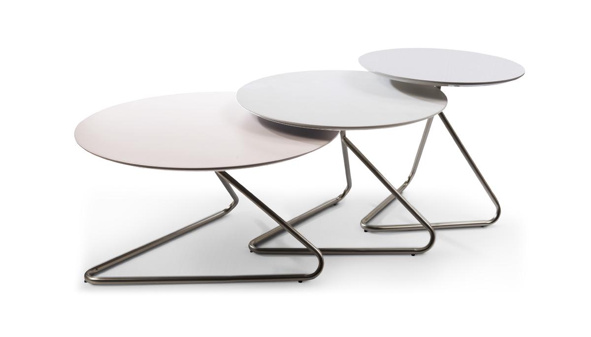 Set of three coffee tables 70*40, 60*45, 50*50 – Seven Design